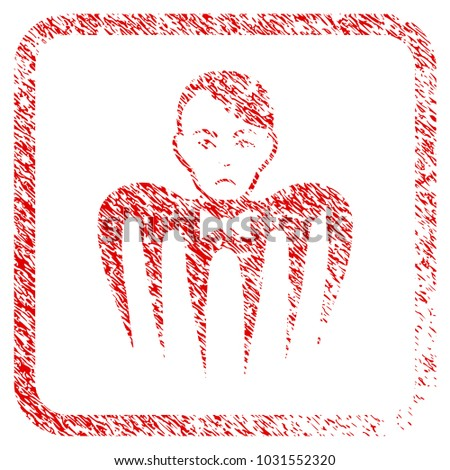 spectre man rubber seal stamp...
