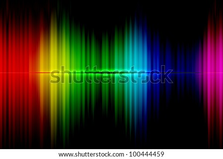 Spectrum abstract beautiful on the black background