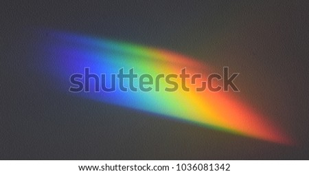 Spectrum cast by a prism in a physics laboratory