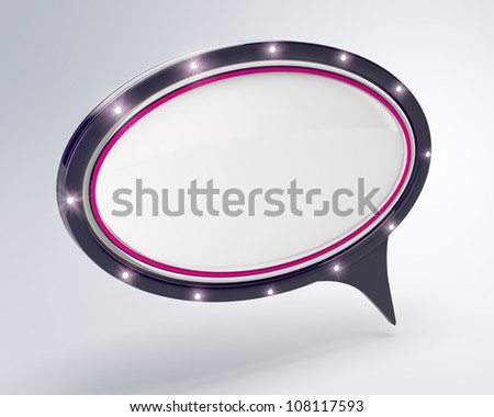 Speech bubble 3d render