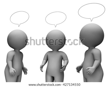 Speech Bubble Indicating Copy Space And Illustration 3d Rendering