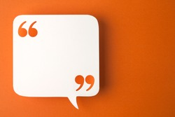 speech bubble on orange background