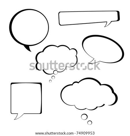 Speech bubbles collection on white background