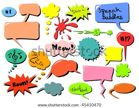Speech bubbles. For vector version click on my name.