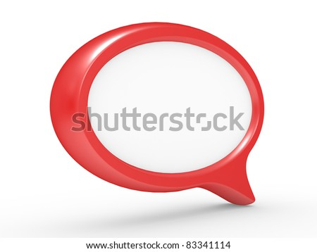 Speech bubbles isolated on a white background