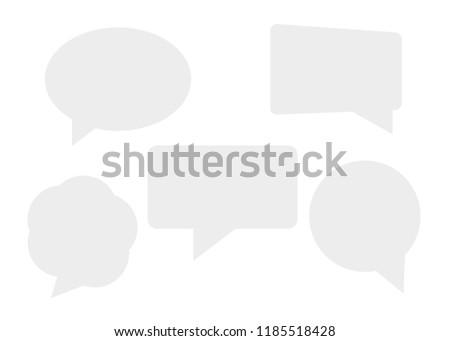 Speech bubbles isolated set. Cloud bubble speech for communication