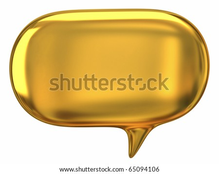 Speech golden bubble