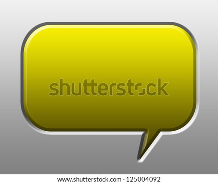 Speech or chat icon on white background
