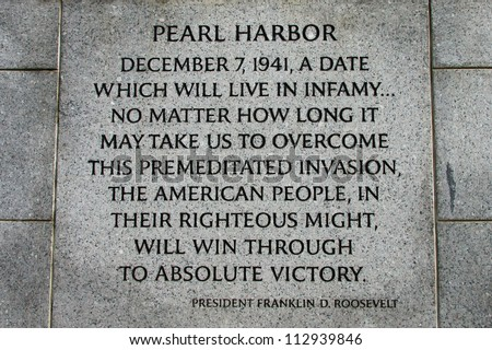 franklin delano roosevelts speech after the bombing of pearl harbor Transcript of fdr's pearl harbor address rhetorical analysis franklin delano roosevelt's pearl harbor  japanese offenses cannot continue leads speech from.