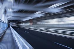 speed blurred highway road