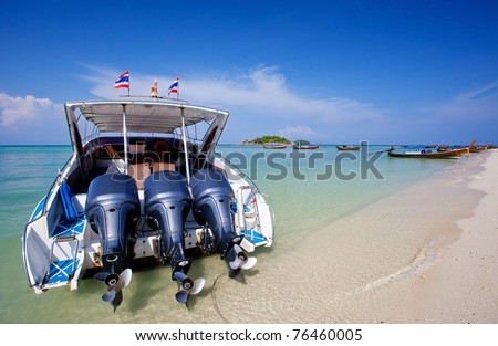 Speed Boat at Lepeh National Park Thailand
