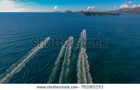Speed boat on the sea #781005193
