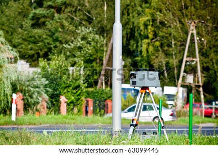 speed camera at the side of the road