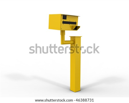 Speed Camera Isolated