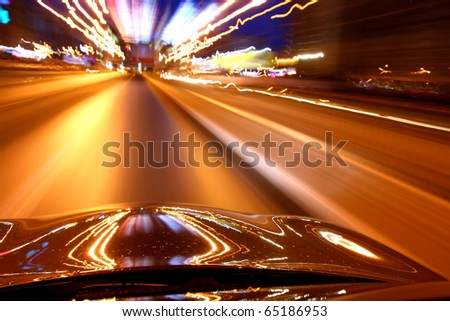 speed drive - stock photo