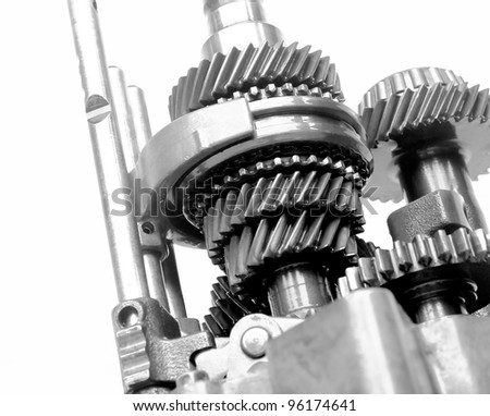 speed gear box on isolated background