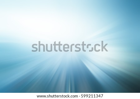 SPEED LIGHT BACKGROUND, BLURRED EMPTY ROAD, PERSPECTIVE, ABSTRACT BLUE DESIGN