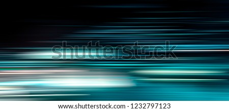 Photo of  speed light line motion blur, data transfer simulation