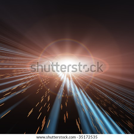 Speed Lights through Space