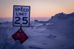 Speed Limit in the Arctic