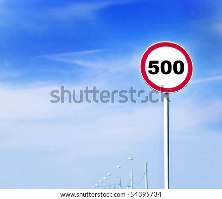 speed limit roadsign