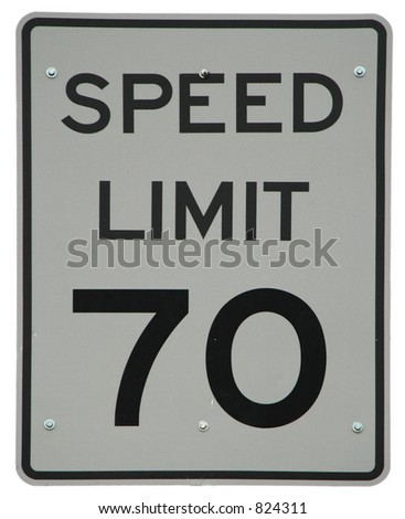 Speed Limit 70 sign - stock photo