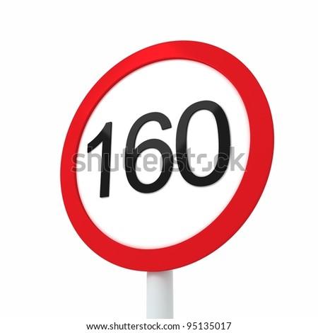 speed limit sign 160