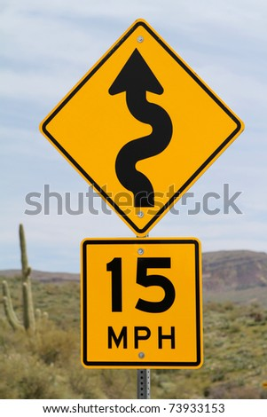 Speed limit sign in Arizona