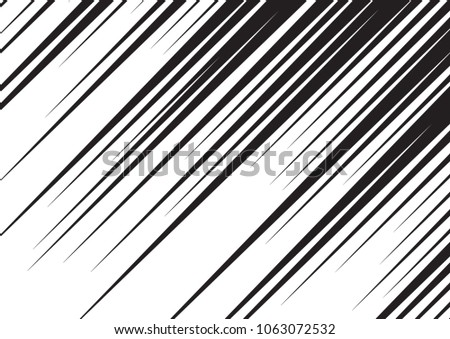 Speed line fast motion background. Comic raster illustration with lines. Pop art pattern