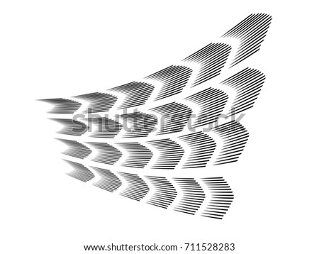 Speed lines.Motion lines.Logo made of speed lines.