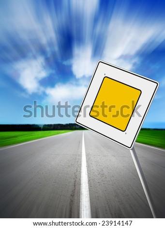 speed main road daytime