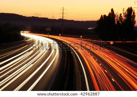 speed morning traffic motion blur-3