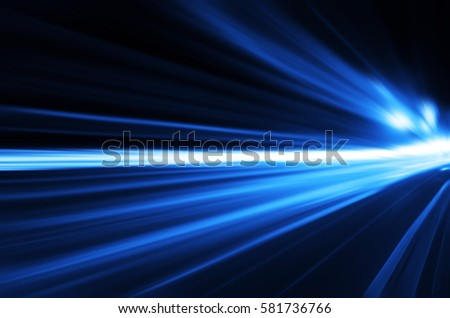 Speed motion,abstract background rays.Traffic car lights on road. #581736766