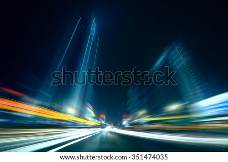 Speed motion in the city