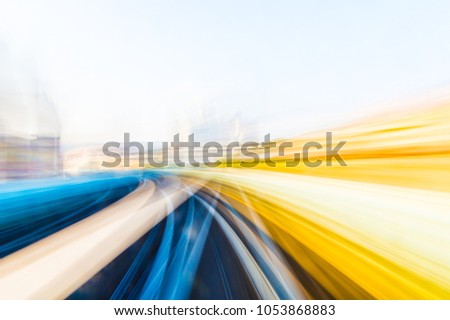 Speed motion in urban highway road tunnel #1053868883