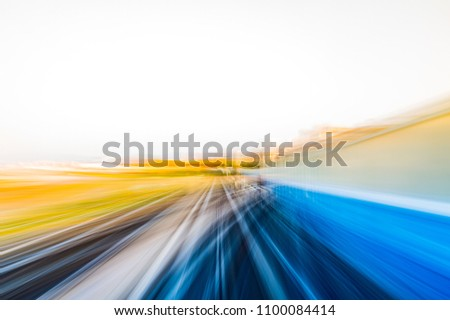 Speed motion in urban highway road tunnel #1100084414