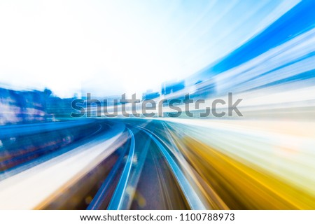 Speed motion in urban highway road tunnel #1100788973