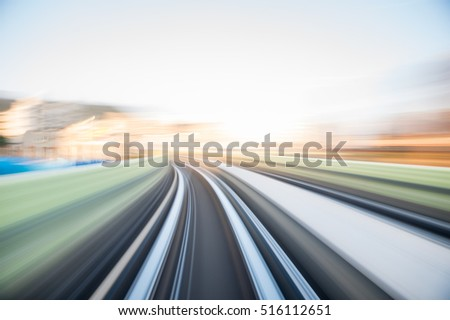 Speed motion in urban highway road tunnel #516112651