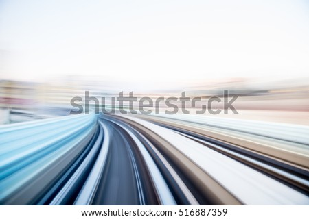 Speed motion in urban highway road tunnel #516887359