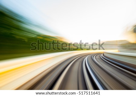 Speed motion in urban highway road tunnel  #517511641
