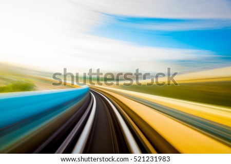 Speed motion in urban highway road tunnel #521231983