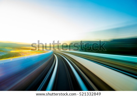 Speed motion in urban highway road tunnel #521332849