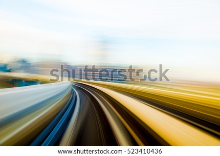 Speed motion in urban highway road tunnel  #523410436