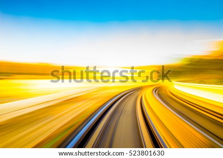 Speed motion in urban highway road tunnel #523801630
