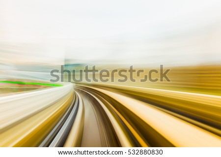 Speed motion in urban highway road tunnel #532880830