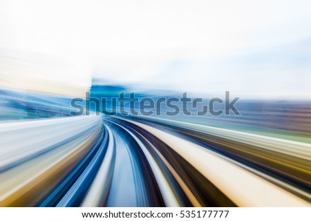 Speed motion in urban highway road tunnel #535177777