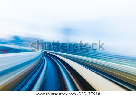 Speed motion in urban highway road tunnel #535177918