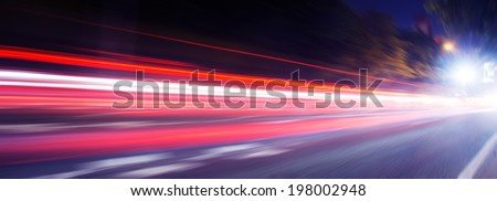 speed motion on road at night #198002948