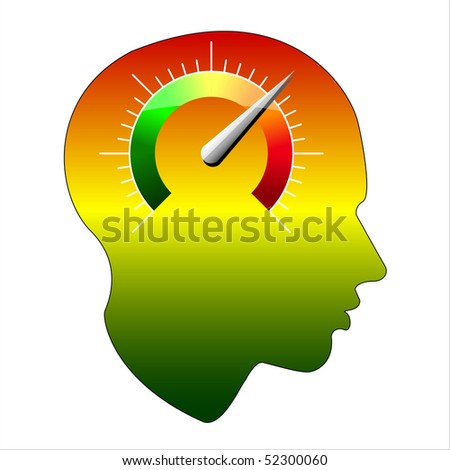 SPEED of the human mind, Isolated over background