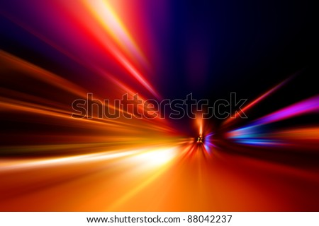 speed on night road